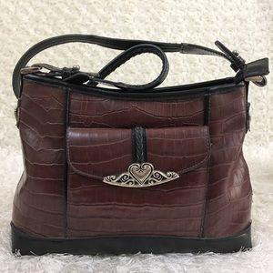 Handbags - Women's Black Brown Leather Vintage Style Purse OS